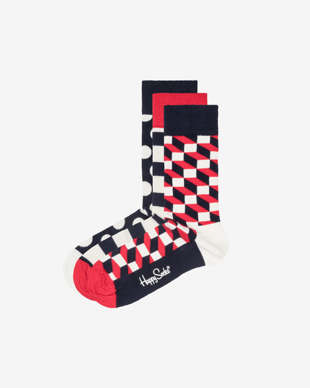 Happy Socks Stripe 3-pack Čarape
